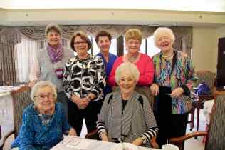 Our 50+ year members being honored at our Golden Anchor Tea at Friendship Village. first row: Marty Walker, Louanne Brunenmeister 2nd row: Penny Hunt, Marge koon, Linda Daum, Sue Giardina, Joanne Ostergaard