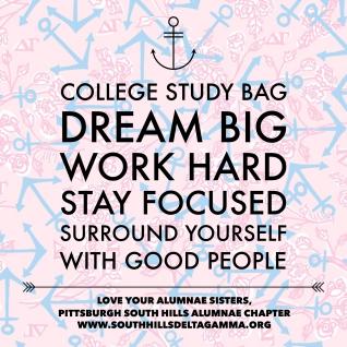 Collegiate Study Bag Labels
