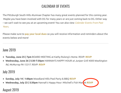 Find your Event and click on the RSVP link if available (image 1)